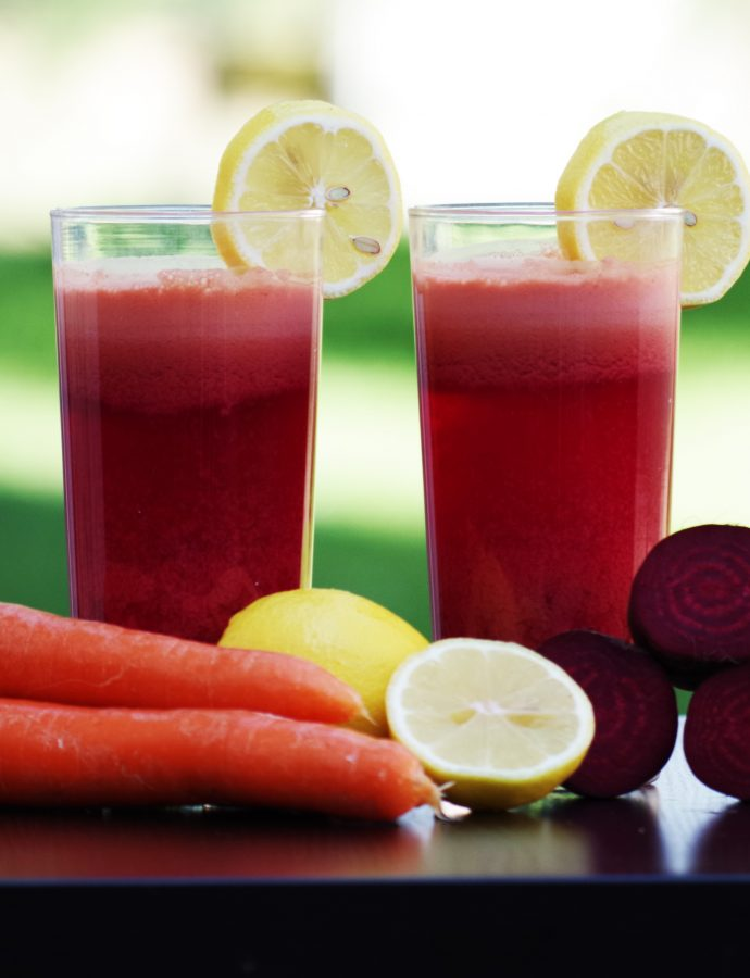 Smoothie betterave rouge pamplemousse