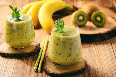 smoothie banane kiwi yaourt grec